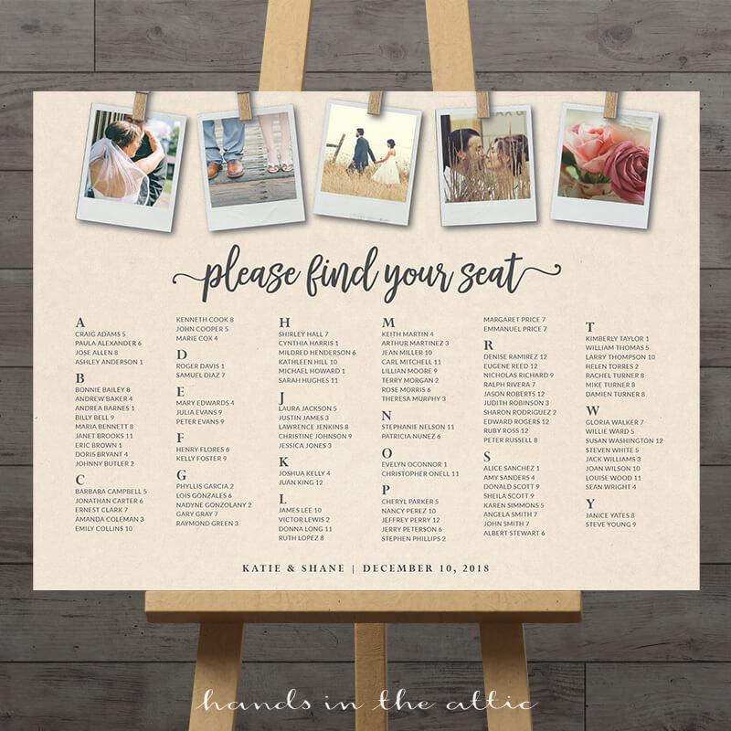 photos wedding seating chart printable stationery weddings