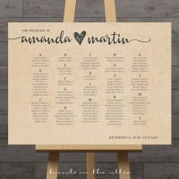 Image for Kraft Wedding Seating Chart