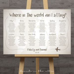 Image for Travel the Wedding Seating Chart