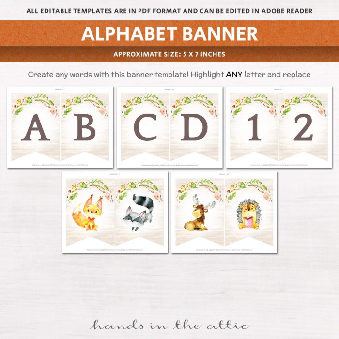 Image for Woodland Animals Baby Shower Package