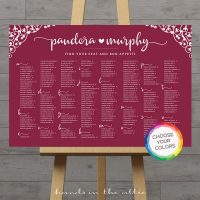 Image for Wine Burgundy Wedding Seating Chart