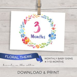 Image for Floral Baby Monthly Milestones
