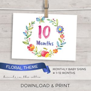 Image for Floral Monthly Baby Milestones