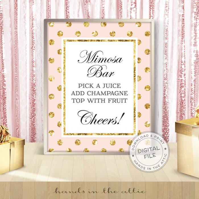 Image for Printable Mimosa Bar Sign