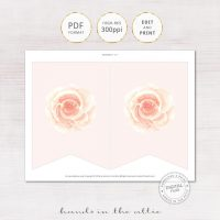 Image for Pink Rose Floral Alphabet Party Banner