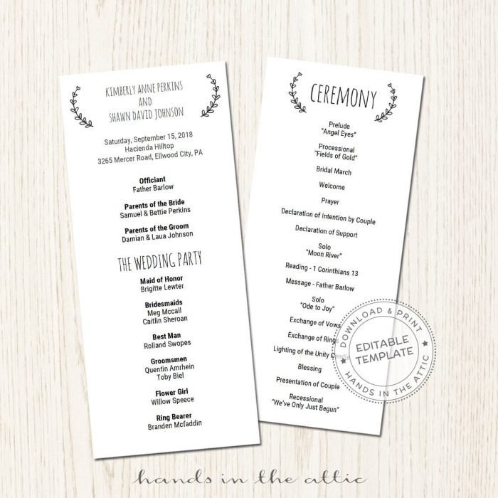 Image for Basic Wedding Program