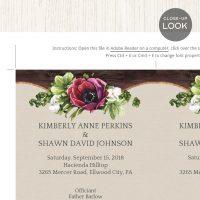 Image for Floral & Rustic Wedding Program