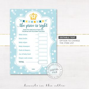 "Image for Blue Baby Boy Prince ""The Price Is Right"" 