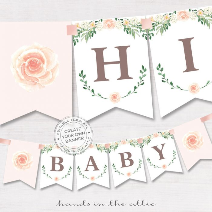 photograph about Baby Shower Banner Printable called Printable Kid Shower Banners Editable Templates