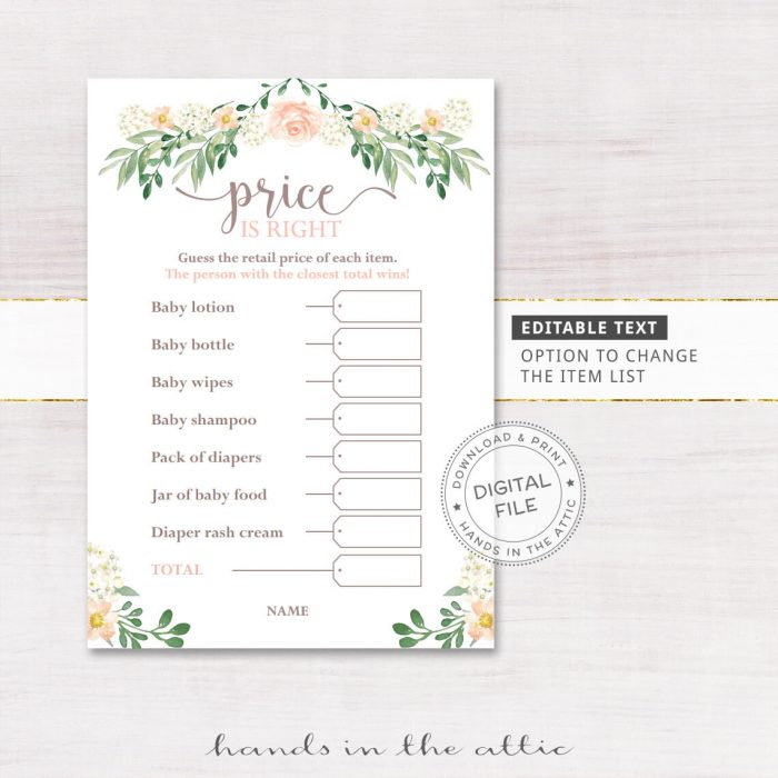 "Image for Pink Rose Floral ""Price Is Right"" 