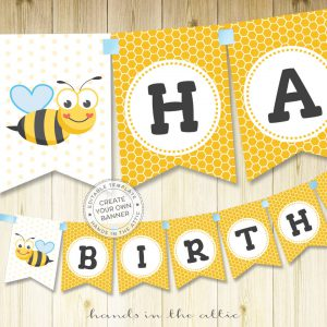 Image for Bumble Bee Alphabet Banner