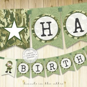 Image for Printable Army Party Banner