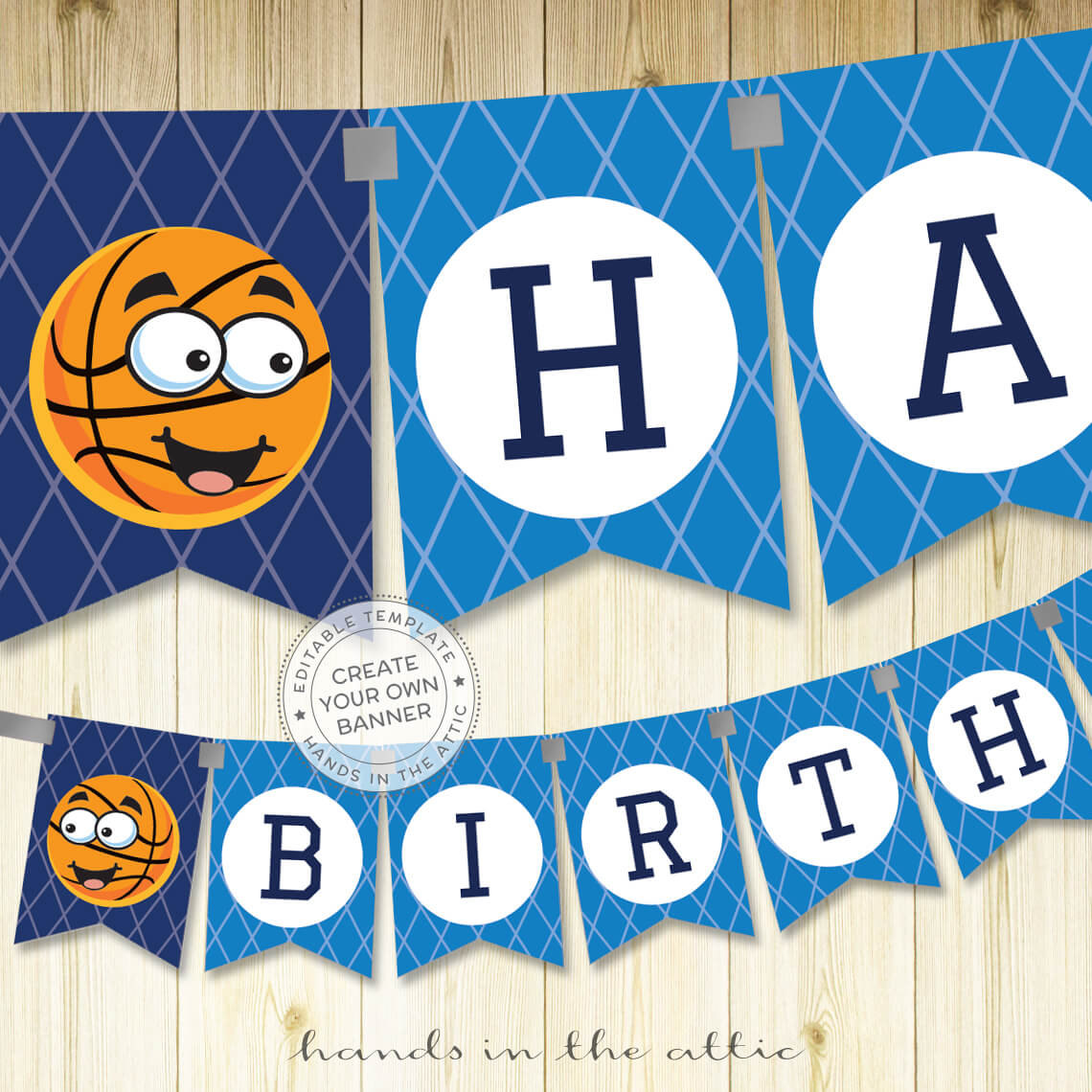 Basketball Sports Party Banner Printable Hands In The Attic