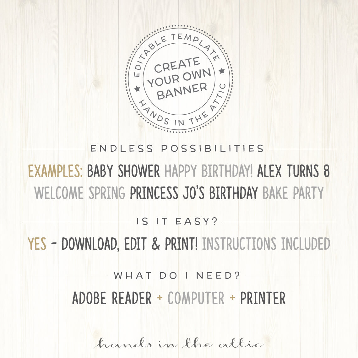 Printable Army Party Banner | DIY Decor | Printable Stationery ...