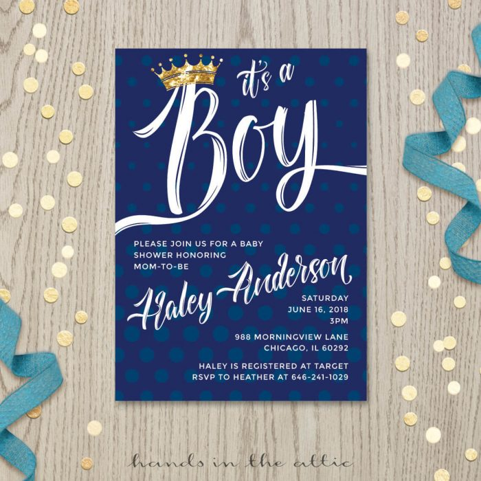 Image for Prince Baby Shower Invitation
