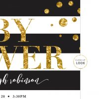 Image for Black & White Stripes Baby Shower Invitation