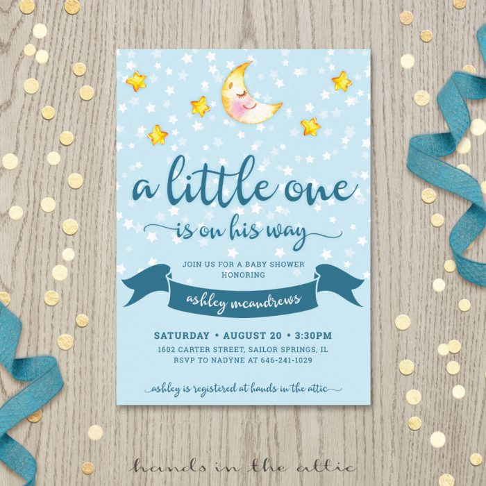 Image for Stars and Moon Baby Shower Invitation