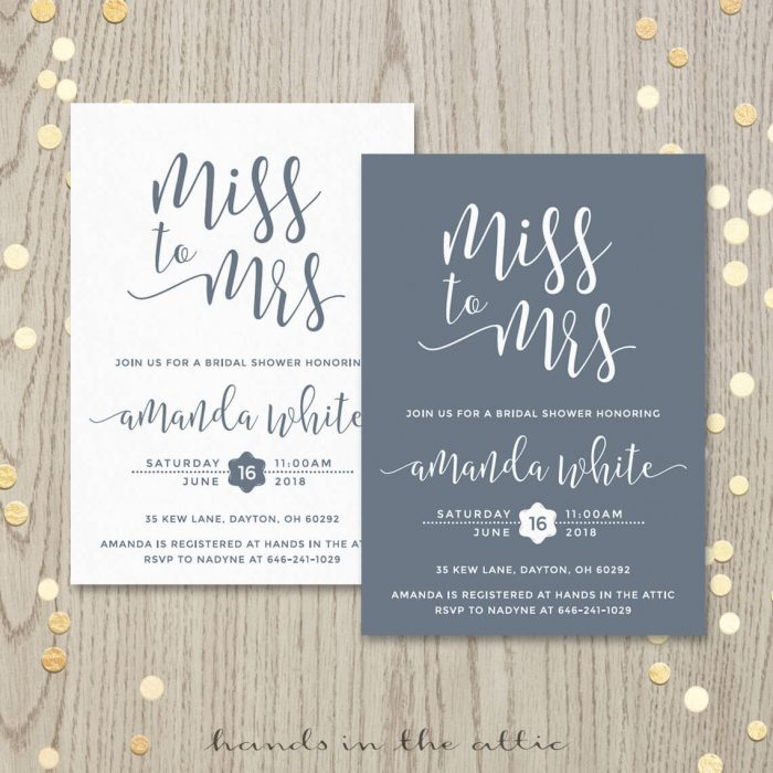 Image for Miss to Mrs Bridal Shower Invitation