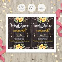 Image for Rustic Yellow Flowers Bridal Shower Invitation