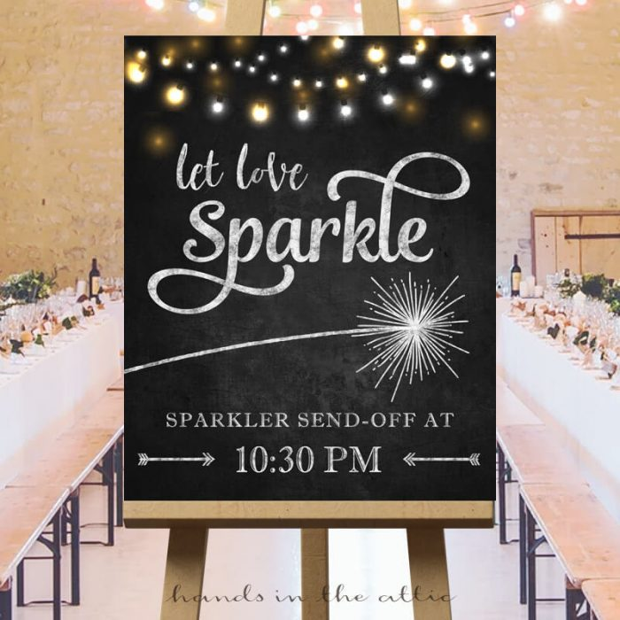 Sparkler Send-off Sign