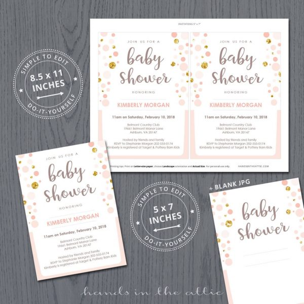 Peach And Gold Baby Shower Package P2