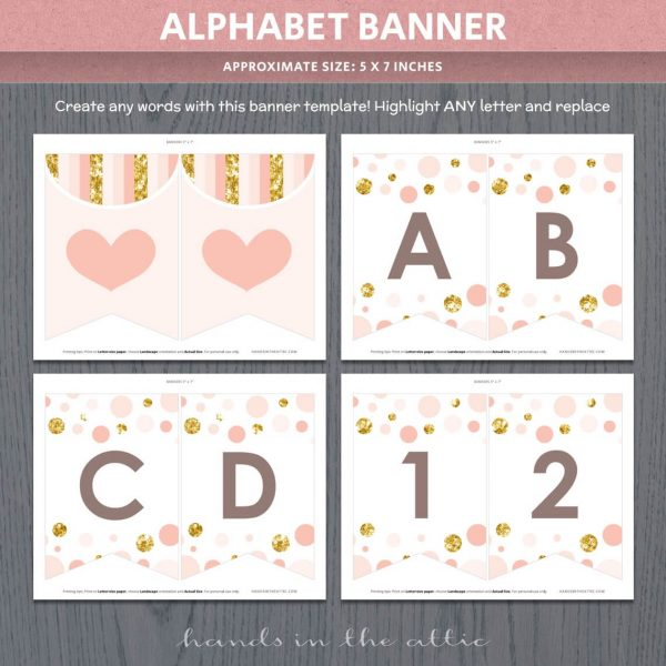 Peach And Gold Baby Shower Package P5
