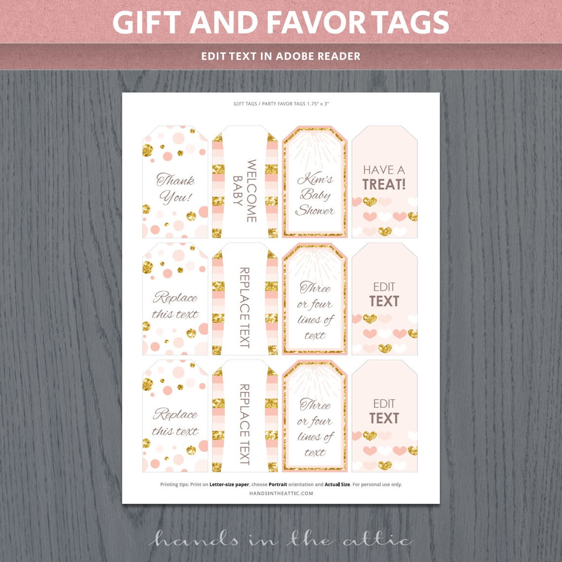 Peach And Gold Baby Shower Package P7