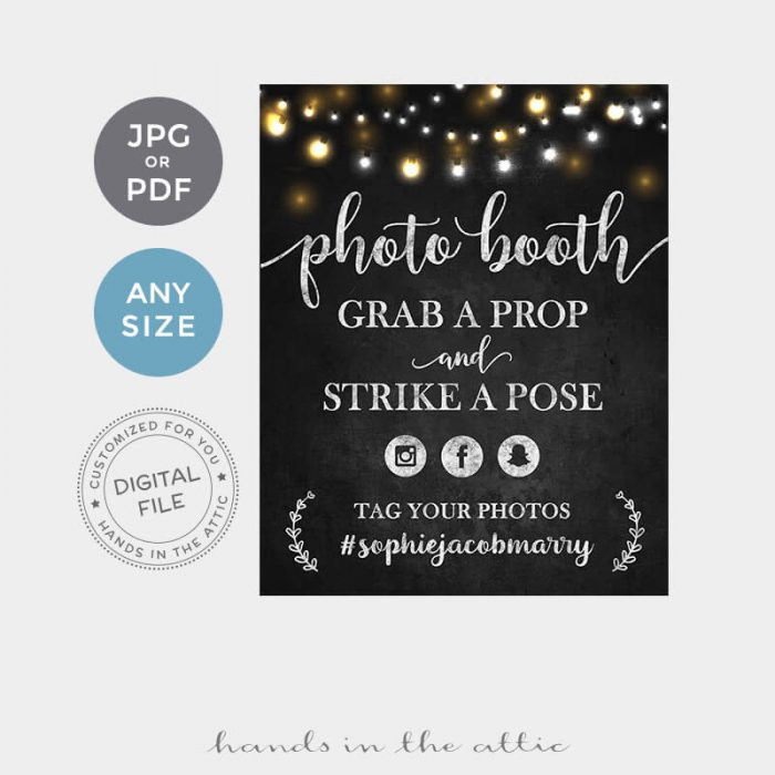 Photo Booth Printable Sign