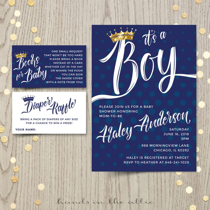 Baby Boy Prince Invitation