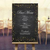 Bar Menu Wedding Sign