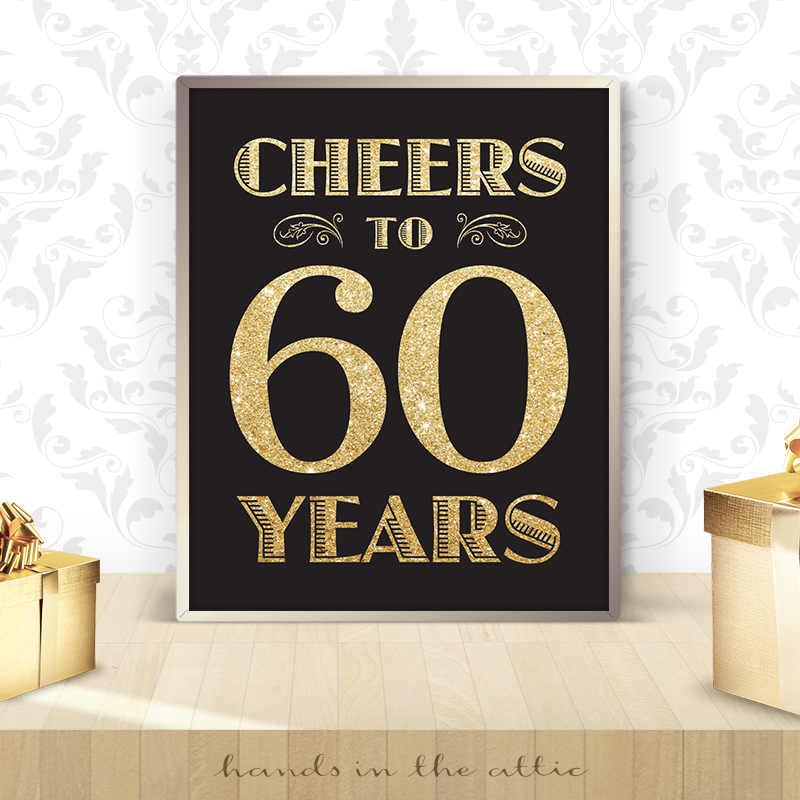 60th Birthday Sign
