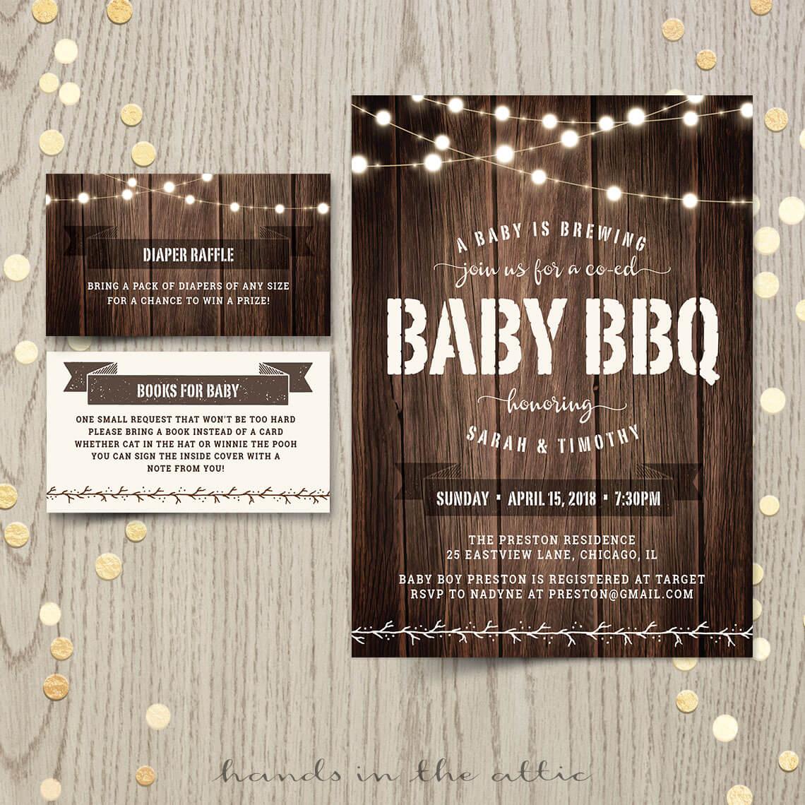Baby bbq shower invitation printable stationery - Baby shower invitations and decorations ...
