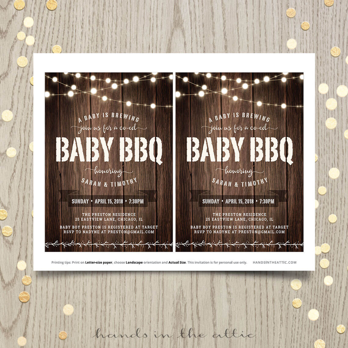 baby bbq shower invitation