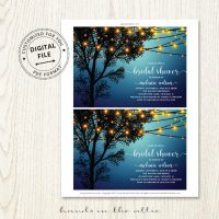 Backyard Bridal Shower Invitation