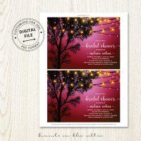 Pink Bridal Shower Invitation