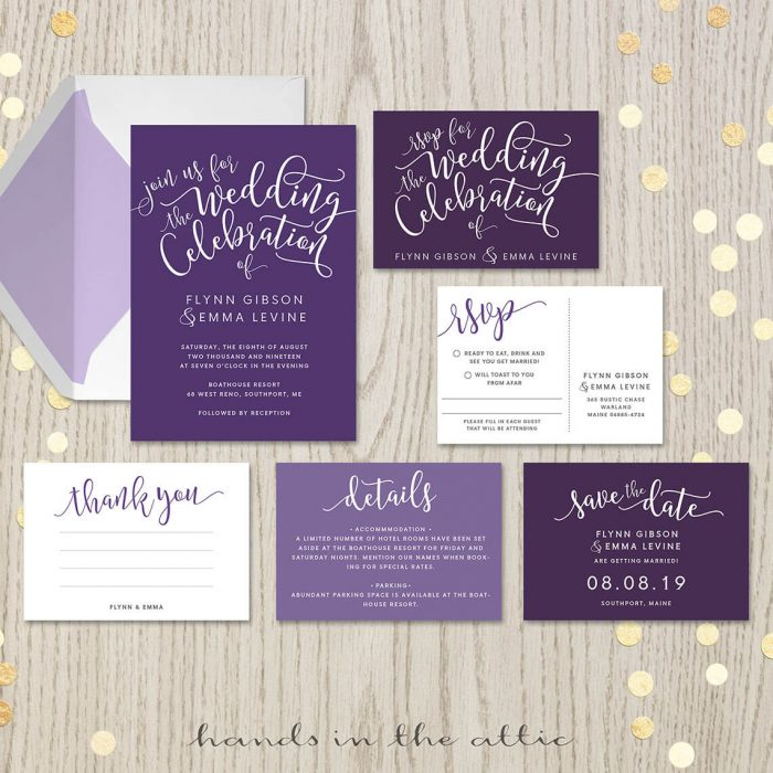Printable Wedding Invitation Sets Browse Collection