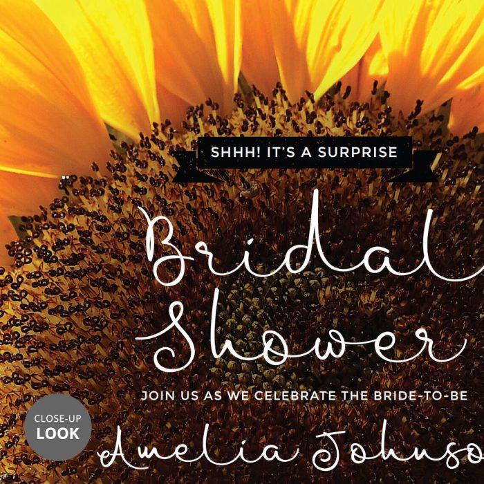 Surprise Sunflower Bridal Shower Invitation