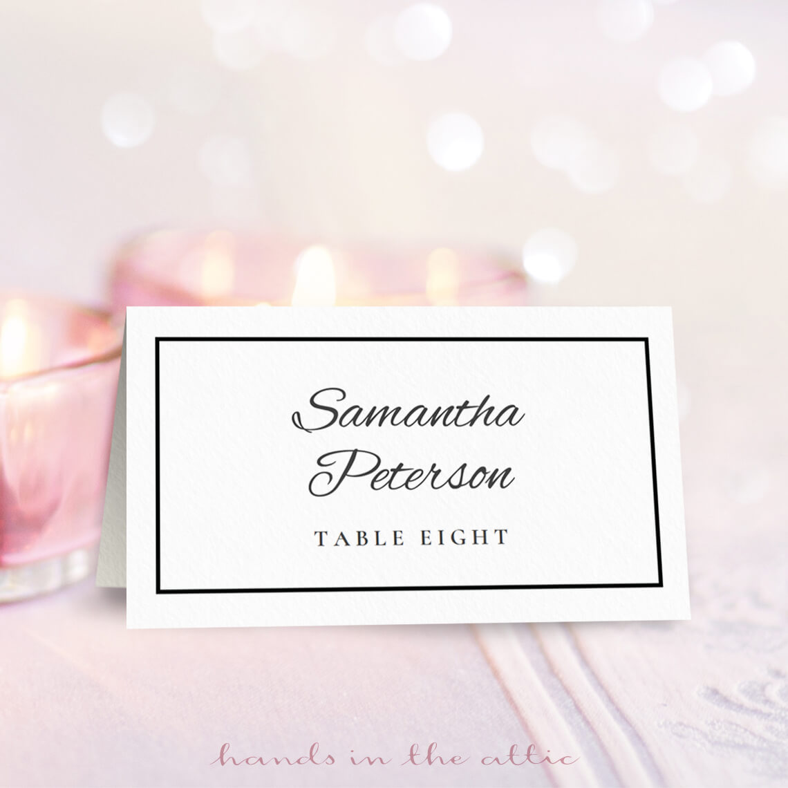 Wedding place card template free download printable for Free place card template