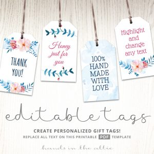Floral Bridal Shower Gift Tags