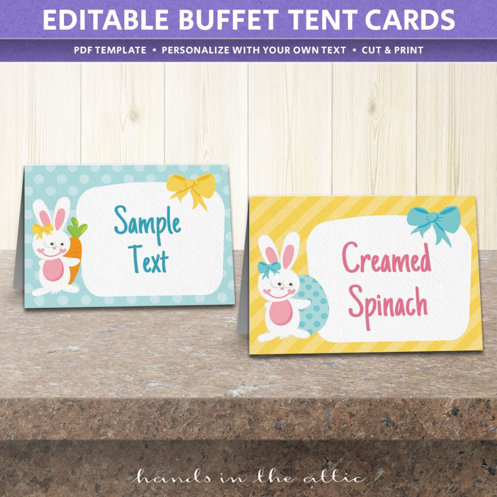 photo regarding Free Printable Food Tent Cards identify No cost Easter Celebration Foods Labels Printable Down load Arms