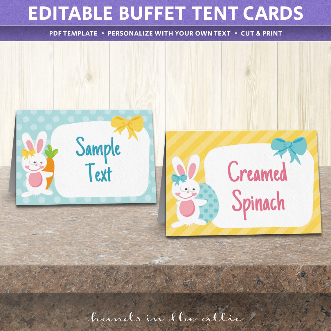 free easter party food labels | printable download | hands in the attic