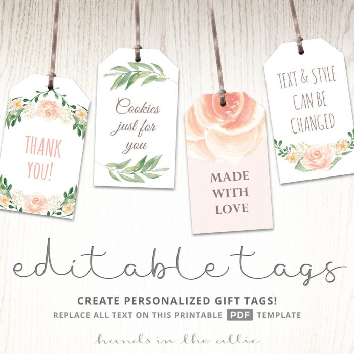 Printable Baby Shower Labels