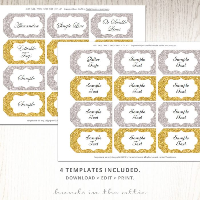 Printable Gold Labels