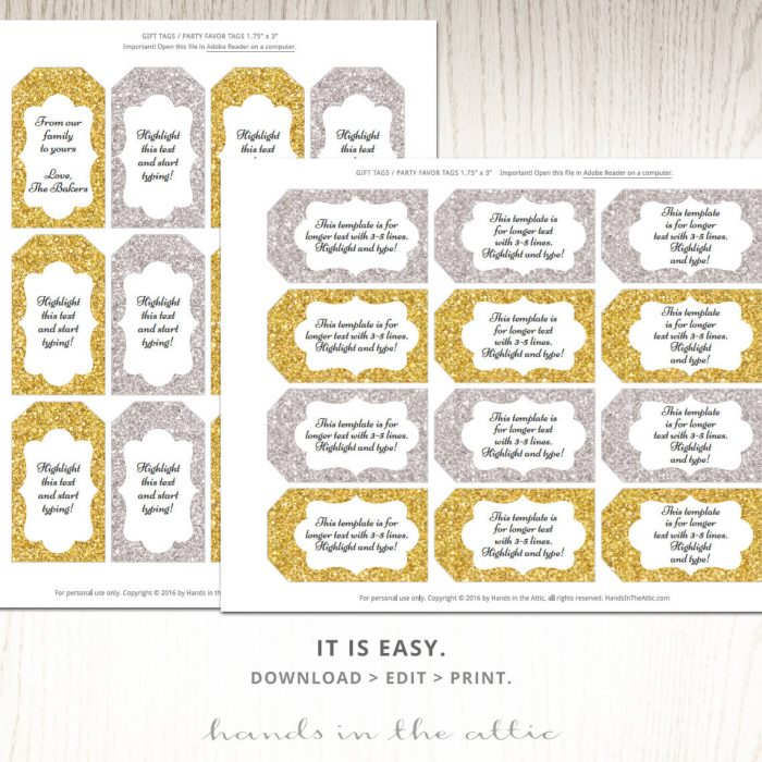 Printable Silver Labels