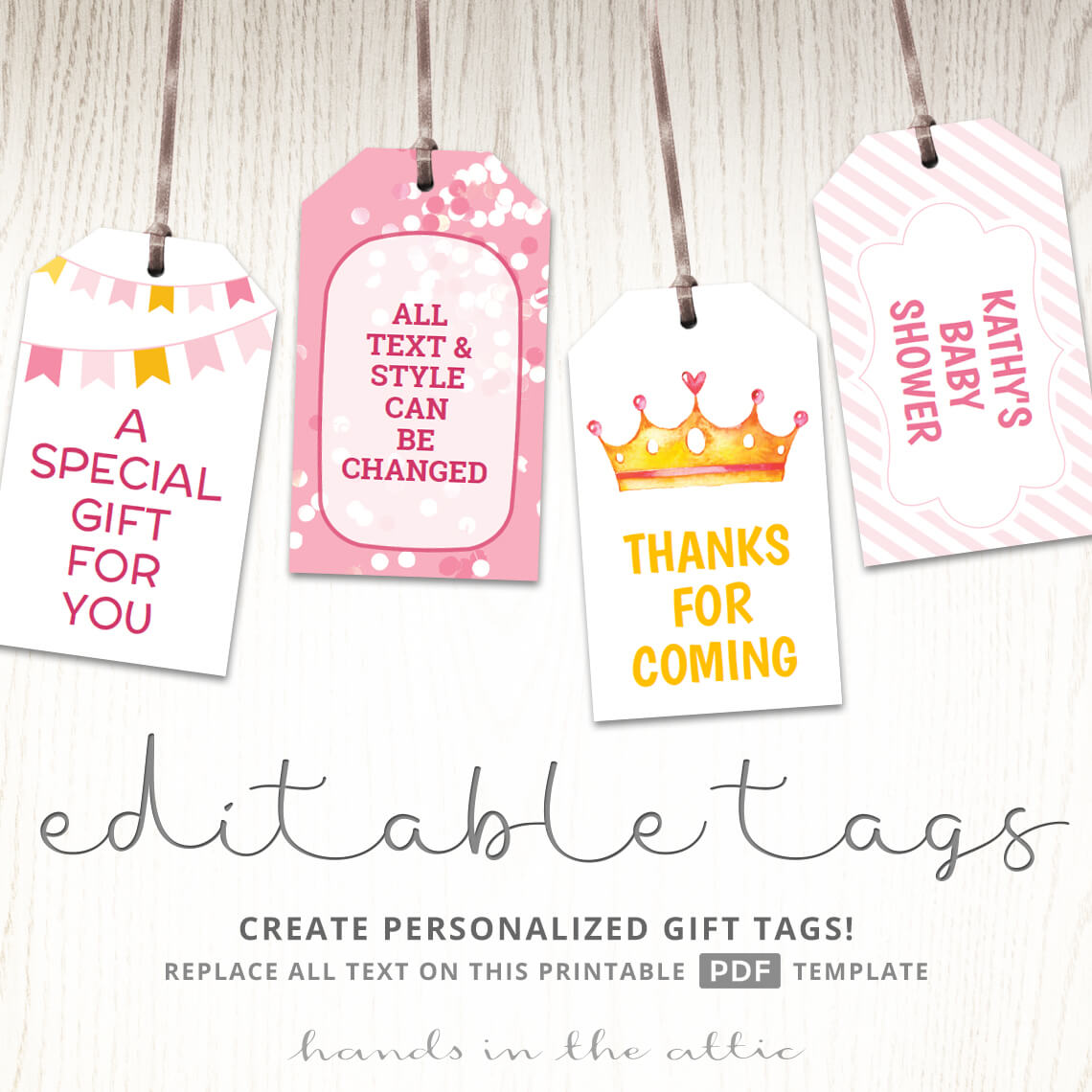 Royal Princess Baby Shower Gift Tags