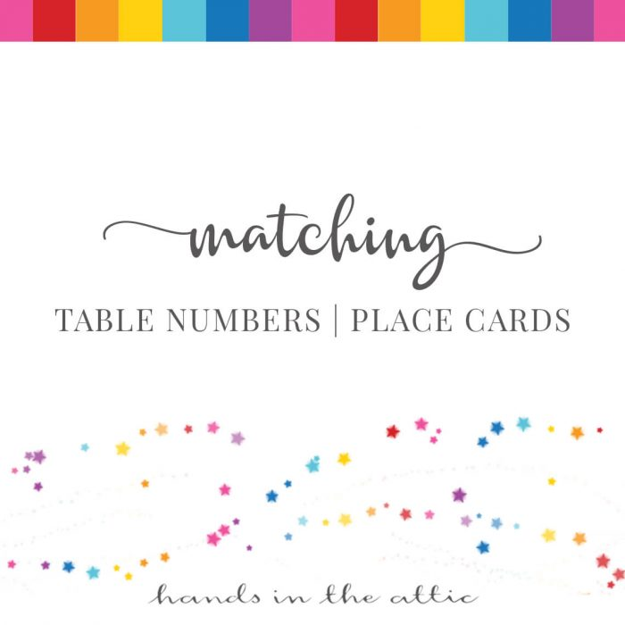 Matching Table Numbers | Place Cards