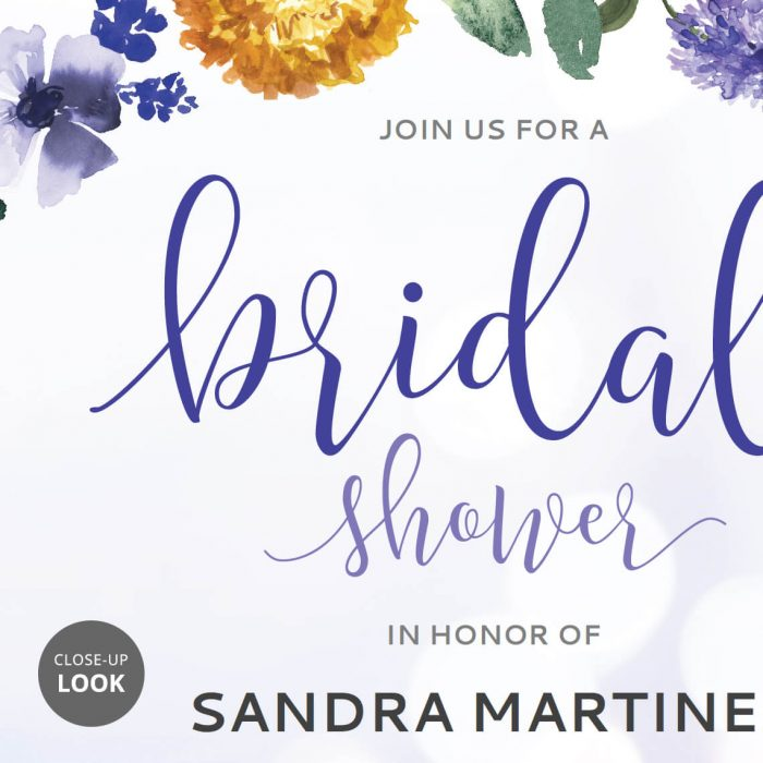 Purple Bridal Shower Invitation DIY