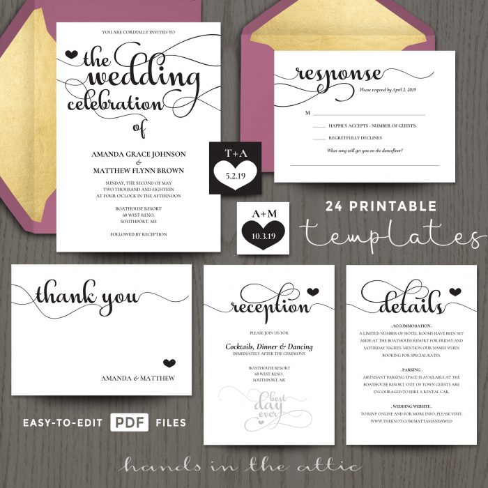 Wedding Celebration Invitation Templates