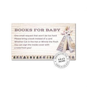 Boho Baby Shower Book Request