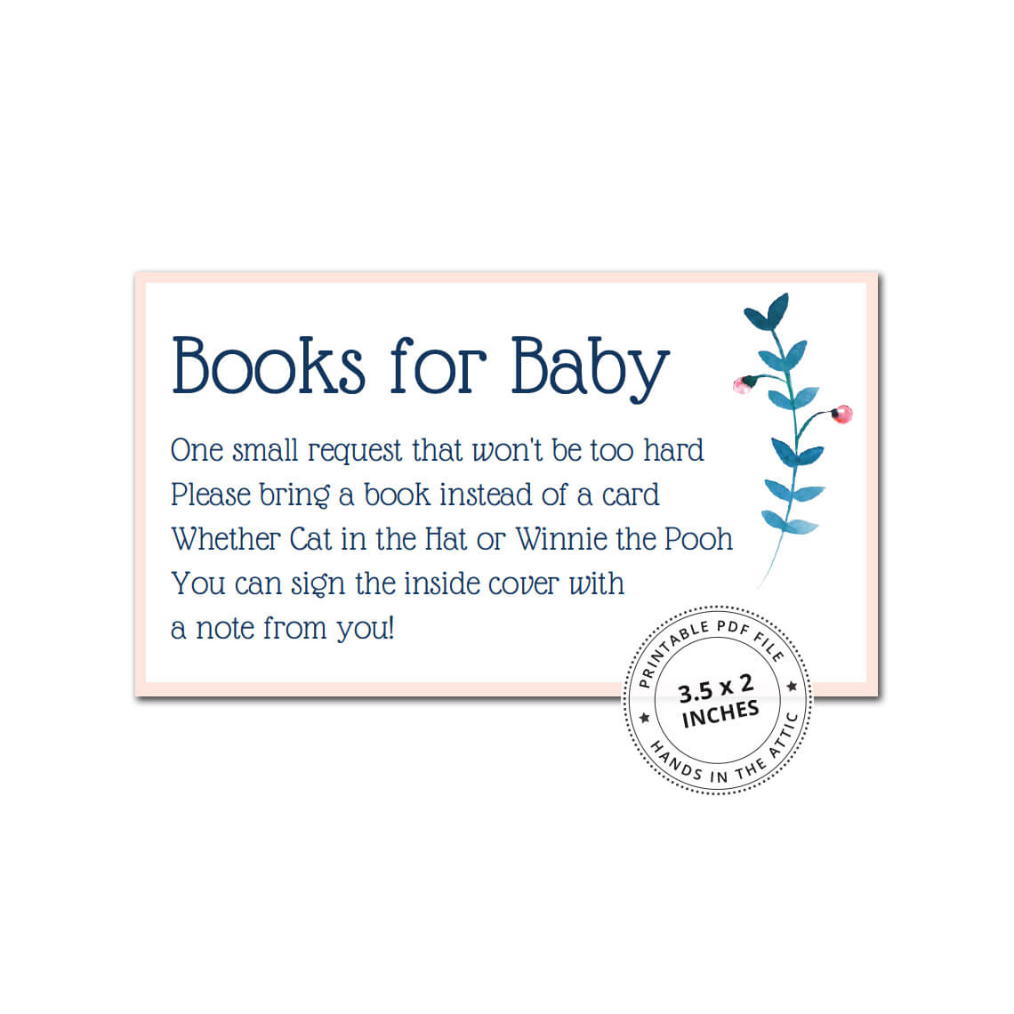 image relating to Bring a Book Instead of a Card Printable identified as Carry a E book alternatively of a Card